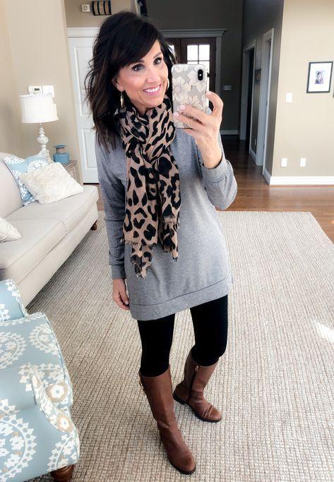 leggings inverno: una maglia-vestito