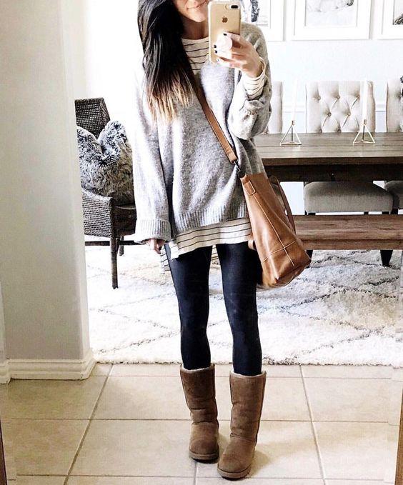 """leggings inverno:: un outfit """"a strati"""""""
